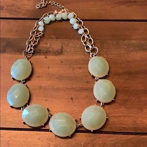 Mint green/gold short Premier Designs necklace